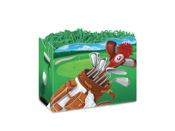 Large Golf Scene Basket Boxes 10-1/4x6x7-1/2""