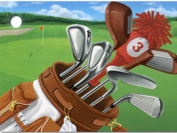 **Golf Scene Theme Gift Cards 3-3/4x2-3/4""