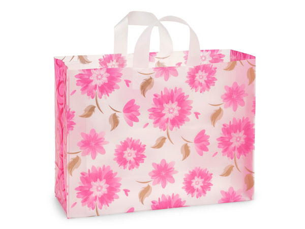 *Gilded Petals Plastic Gift Bags, Vogue 16x6x12, 25 Pack