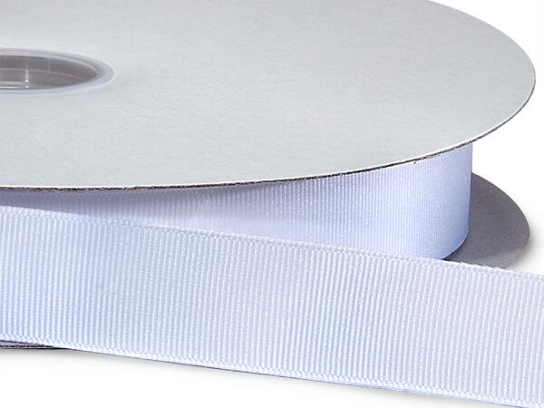 """White Grosgrain Ribbon 7/8""""x100 yds 100% Polyester"""