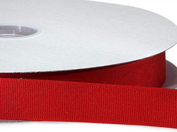 "Red Grosgrain Ribbon 7/8""x100 yds 100% Polyester"