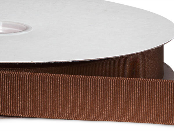 "Milk Chocolate Grosgrain Ribbon 7/8""x100 yds 100% Polyester"