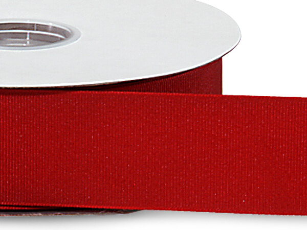 "Red Grosgrain Ribbon 1-1/2""x50 yds 100% Polyester"