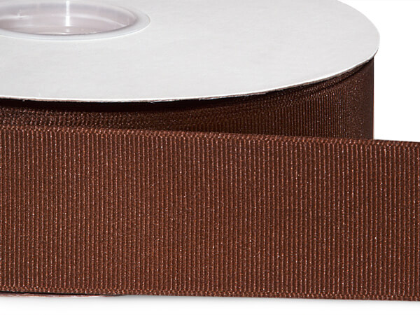"Milk Chocolate Grosgrain Ribbon 1-1/2""x50 yds 100% Polyester"