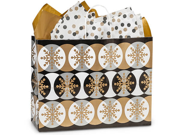 **Vogue Golden Snowflakes 25-Pk 16x6x12-1/2""