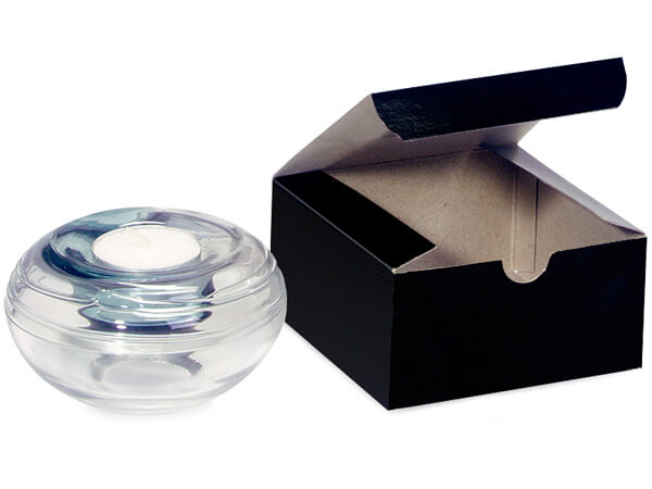 Black Gloss Gift Boxes 4x4x2""