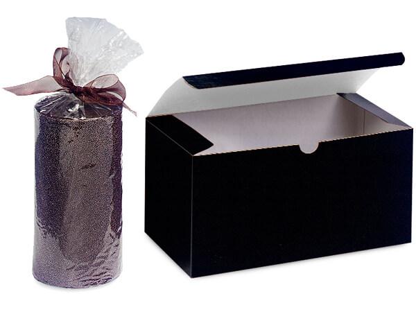 """Black Gloss Gift Boxes 6x4.5x4.5"""""""