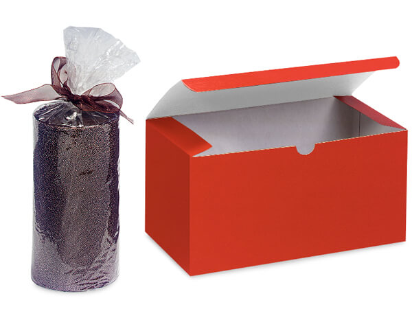 Red Gloss Gift Boxes 6x4.5x4.5""
