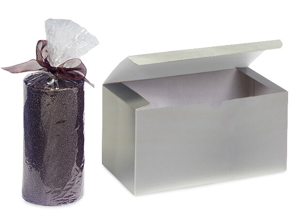 Silver Gloss Gift Boxes 6x4.5x4.5""
