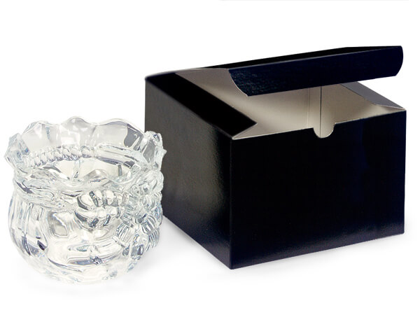 Black Gloss Gift Boxes 6x6x4""