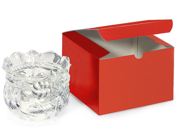 Red Gloss Gift Boxes 6x6x4""