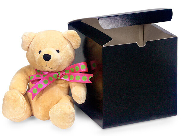 Black Gloss Gift Boxes 6x6x6""