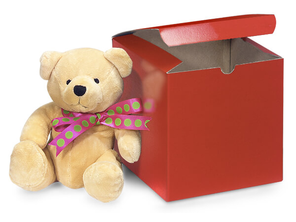 """Red Gloss Gift Boxes 6x6x6"""""""