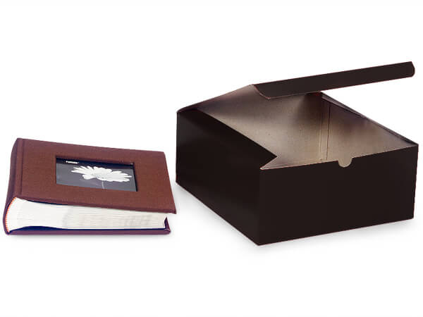 Black Gloss Gift Boxes 8x8x3.5""