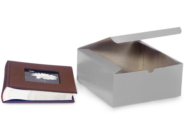 Silver Gloss Gift Boxes 8x8x3.5
