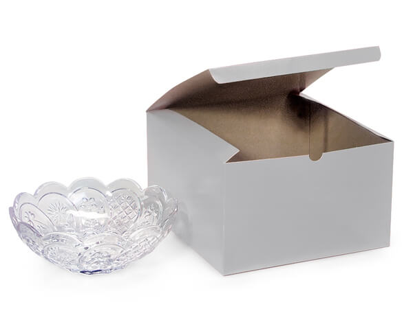 Silver Gloss Gift Boxes 10x10x6