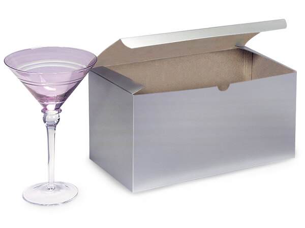 Silver Gloss Gift Boxes 12x6x6""