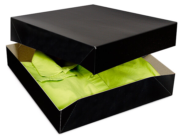 Black Gloss Gift Boxes 12x12x2.5""