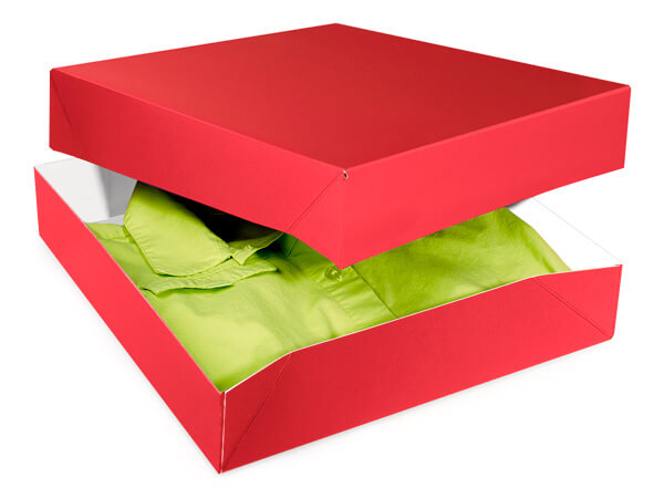 Red Gloss Gift Boxes 12x12x2.5""