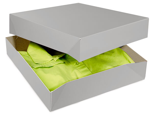 """Silver Gloss Gift Boxes 12x12x2.5"""""""