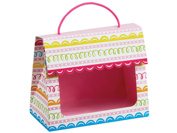 "*Sweet Swirls Gourmet Window Totes, Large 6.5x3.25x5.25"", 6 Pack"
