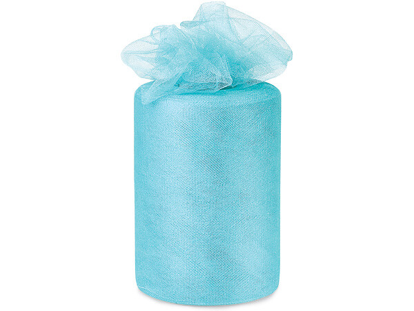 "Aqua Breeze Blue Glimmer Tulle Ribbon, 6""x100 yards"