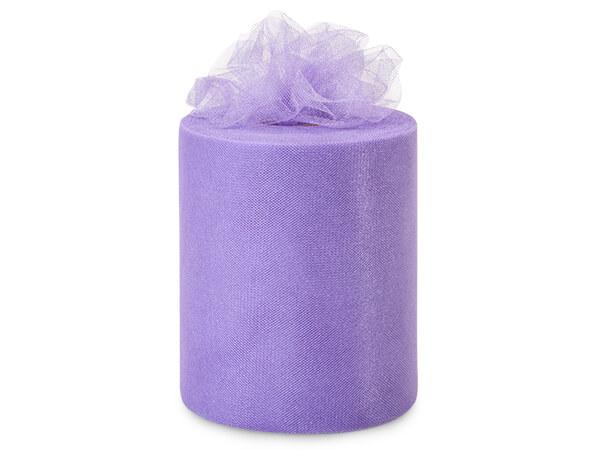 "Purple Glaze Glimmer Tulle Ribbon, 6""x100 yards"