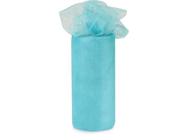 "Aqua Breeze Blue Glimmer Tulle Ribbon, 6""x25 yards"