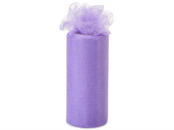 "Purple Glaze Glimmer Tulle Ribbon, 6""x25 yards"