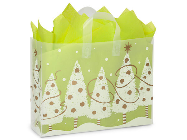 """Golden Trimmings Plastic Gift Bags, Vogue 16x5x12"""", 150 Pack, 4 mil"""
