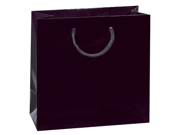"""Black Gloss Gift Bags, Filly 12x5x12"""", 10 Pack"""