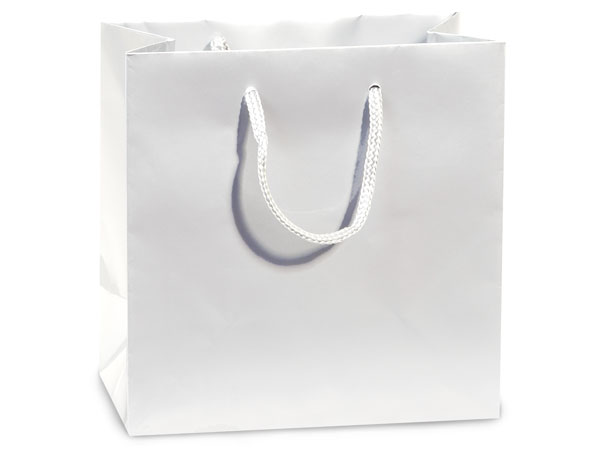 White Gloss Gift Bags Filly 12x5x12 10 Pack