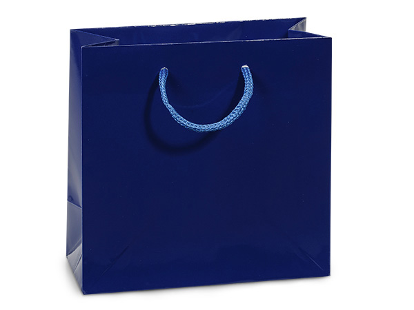 "Royal Blue Gloss Gift Bags, Jewel 6.5x3.5x6.5"", 100 Pack"