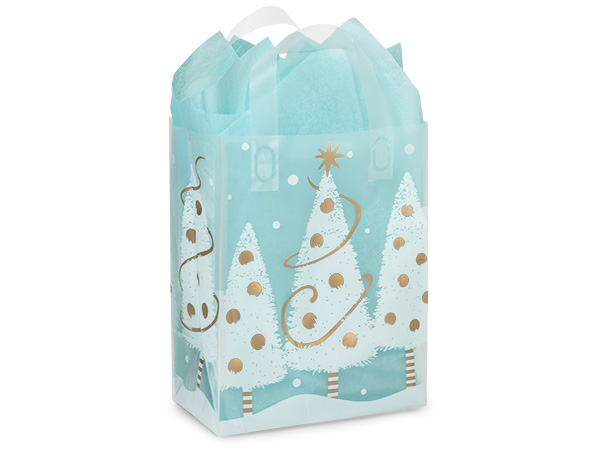 "Golden Trimmings Plastic Gift Bags, Cub 8x5x10"", 25 Pack"