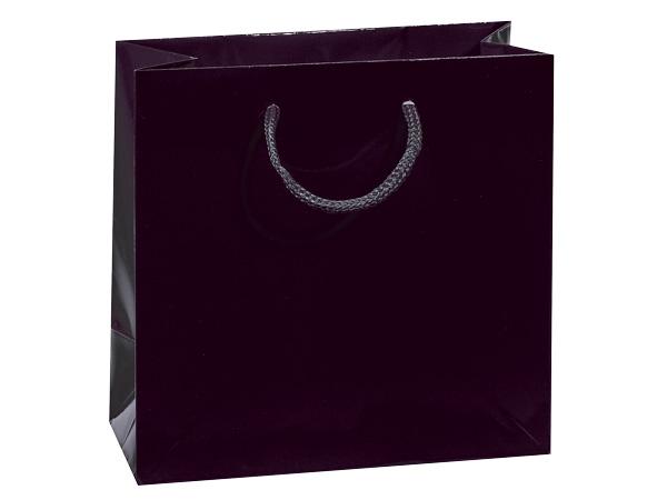 "Black Gloss Gift Bags, Petite 4x2.5x4"", 100 Pack"
