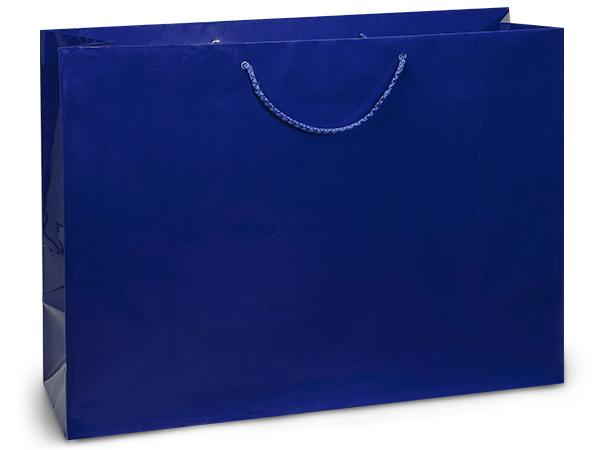 "Royal Blue Gloss Gift Bags, Vogue 16x6x12"", 100 Pack"