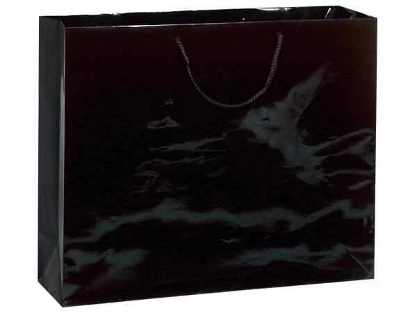 """Black Gloss Gift Bags, Vogue 16x6x12"""", 10 Pack"""