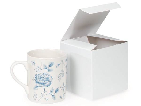 "Recycled White 1 Piece Gift Boxes, 4x4x4"", 100 Pack"