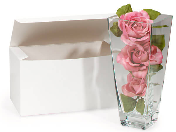 """Recycled White 1 Piece Gift Boxes, 12x6x6"""", 5 Pack"""