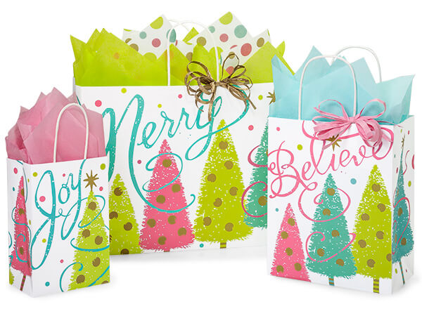 Golden Wishes Paper Shopping Bags