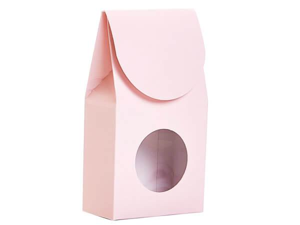 "Blush Pink Gourmet Window Box, Small 3.5x1.75x6.5"", 6 Pack"