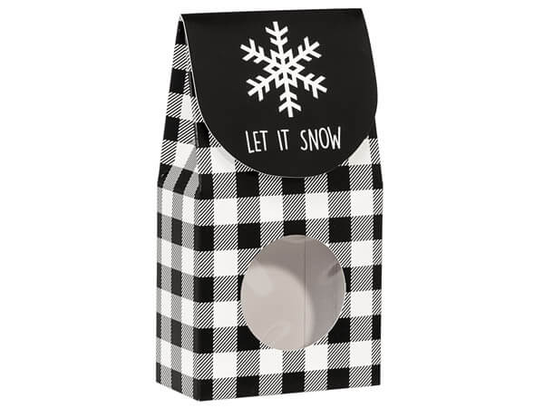 Black Plaid Snowflake Gourmet Window Boxes