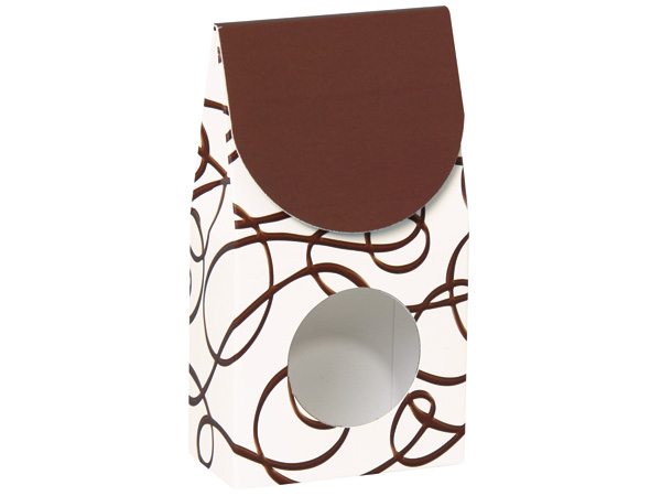 "Chocolate Drizzle Gourmet Window Boxes, Small 3.5x1.75x6.5"", 6 Pack"