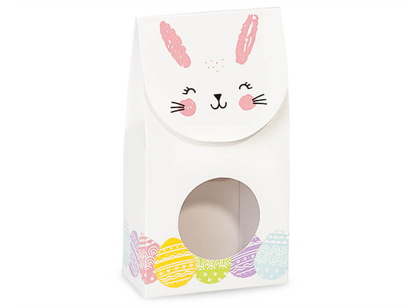 "Happy Easter Bunny Gourmet Window Boxes, Small 3.5x1.75x6.5"", 6 Pack"