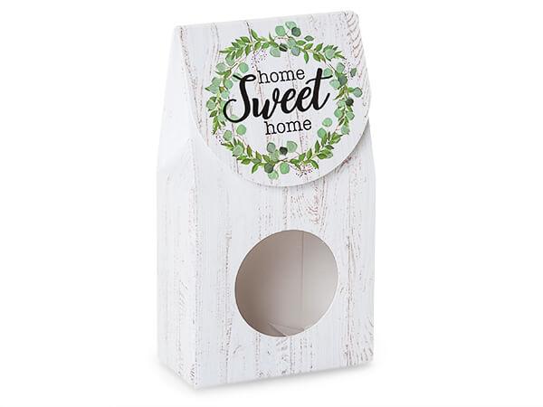 "Farmhouse Home Sweet Home Window Box, Small 3.5x1.75x6.5"", 6 Pack"