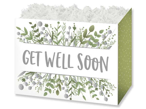 """Get Well Greenery Basket Boxes, Large 10.25x6x7.5"""", 6 Pack"""