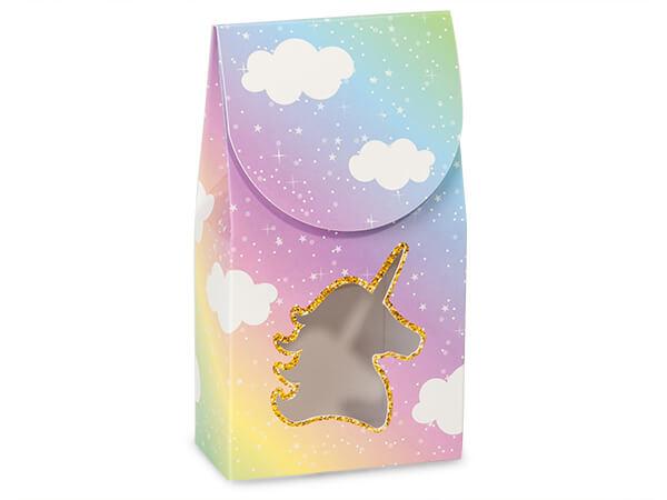 """Glitter Unicorn Gourmet Window Box, Small 3.5x1.75x6.5"""", 6 Pack"""