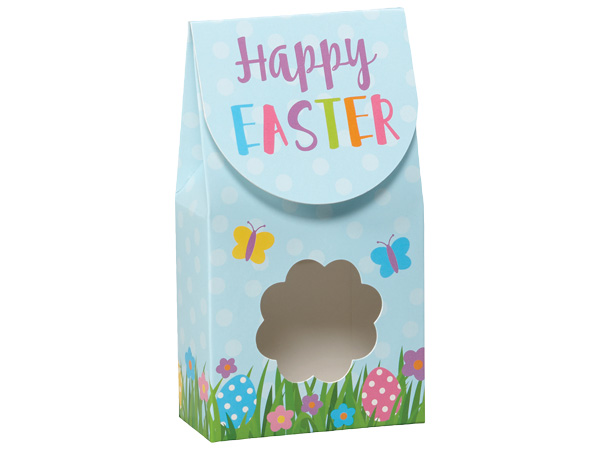 "Happy Easter Gourmet Window Boxes, Small 3.5x1.75x6.5"", 6 Pack"