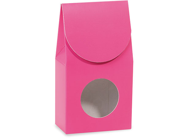 "*Hot Pink Gourmet Window Boxes, Small 3.5x1.75x6.5"", 6 Pack"
