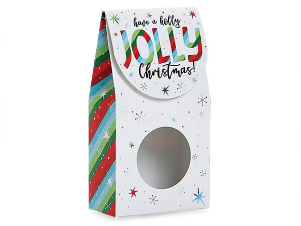 "Jolly Christmas Gourmet Window Box, Small 3.5x1.75x6.5"", 6 Pack"